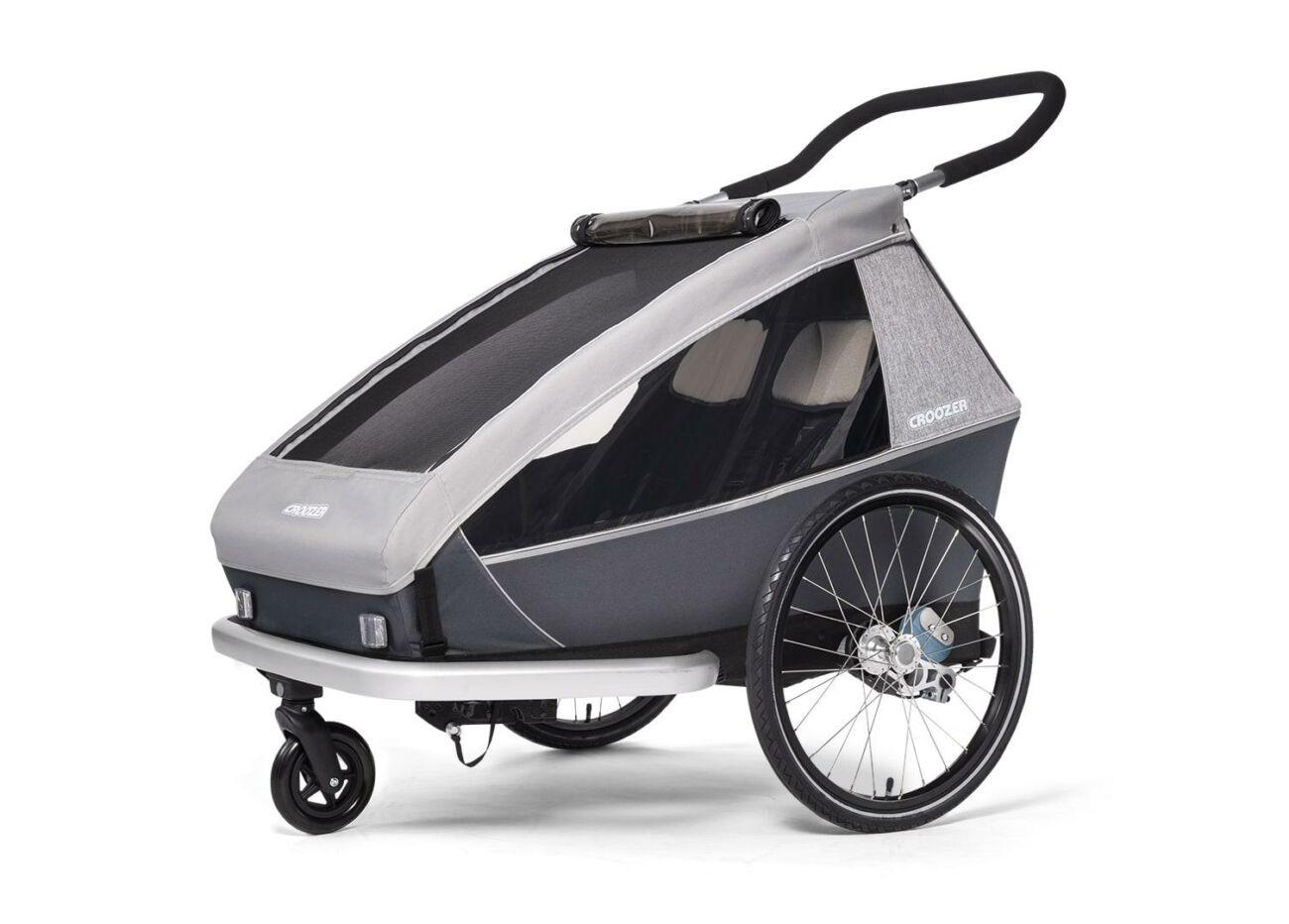 121001620 Croozer Kid Keeke 2 Buggy Stone Grey 2020 Web